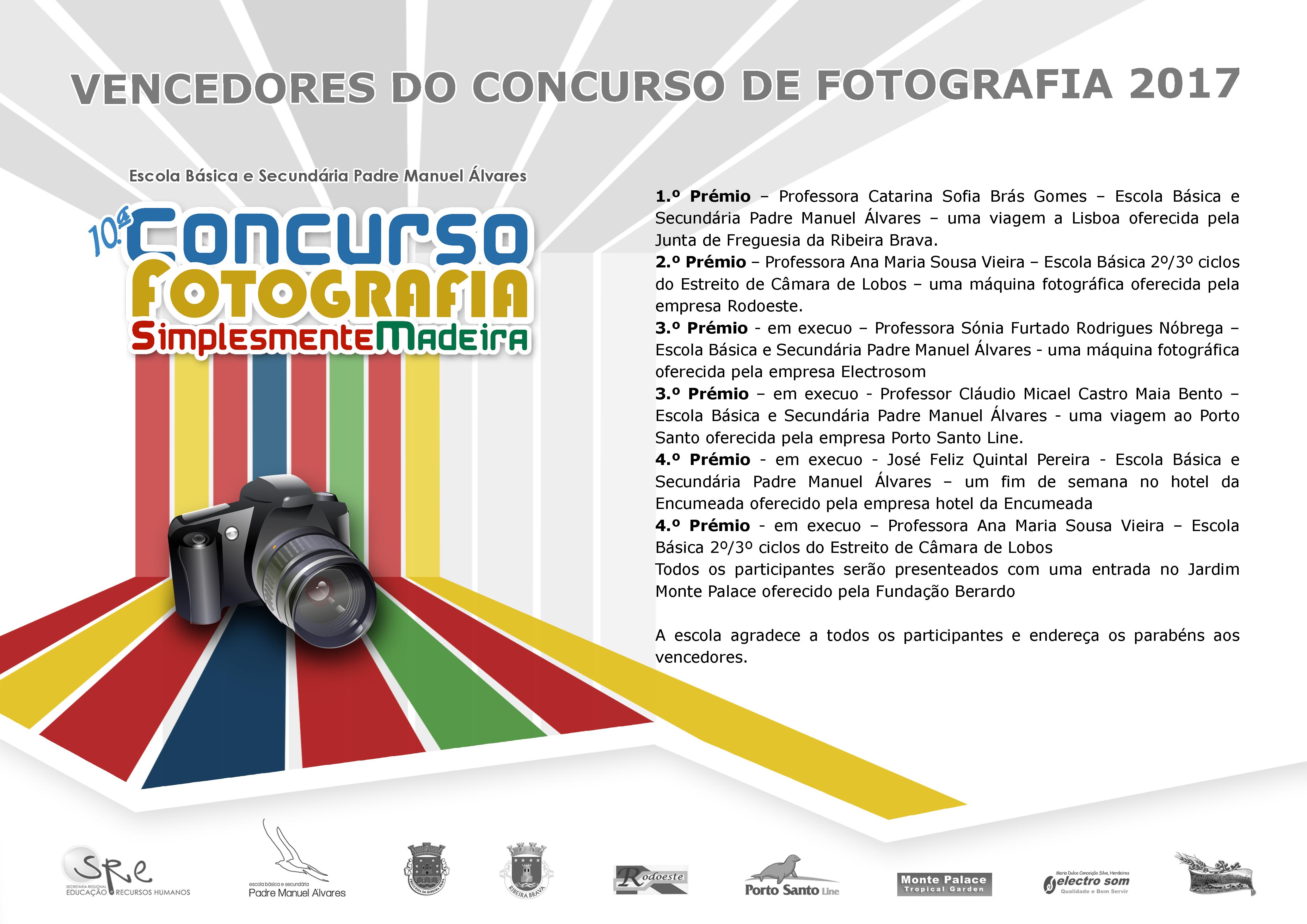 Concurso de Fotografia 2017 - Lista de Vencedores